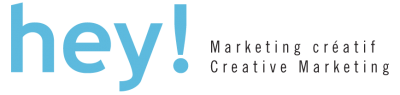 Hey! Marketing créatif / Hey! Creative Marketing Logo